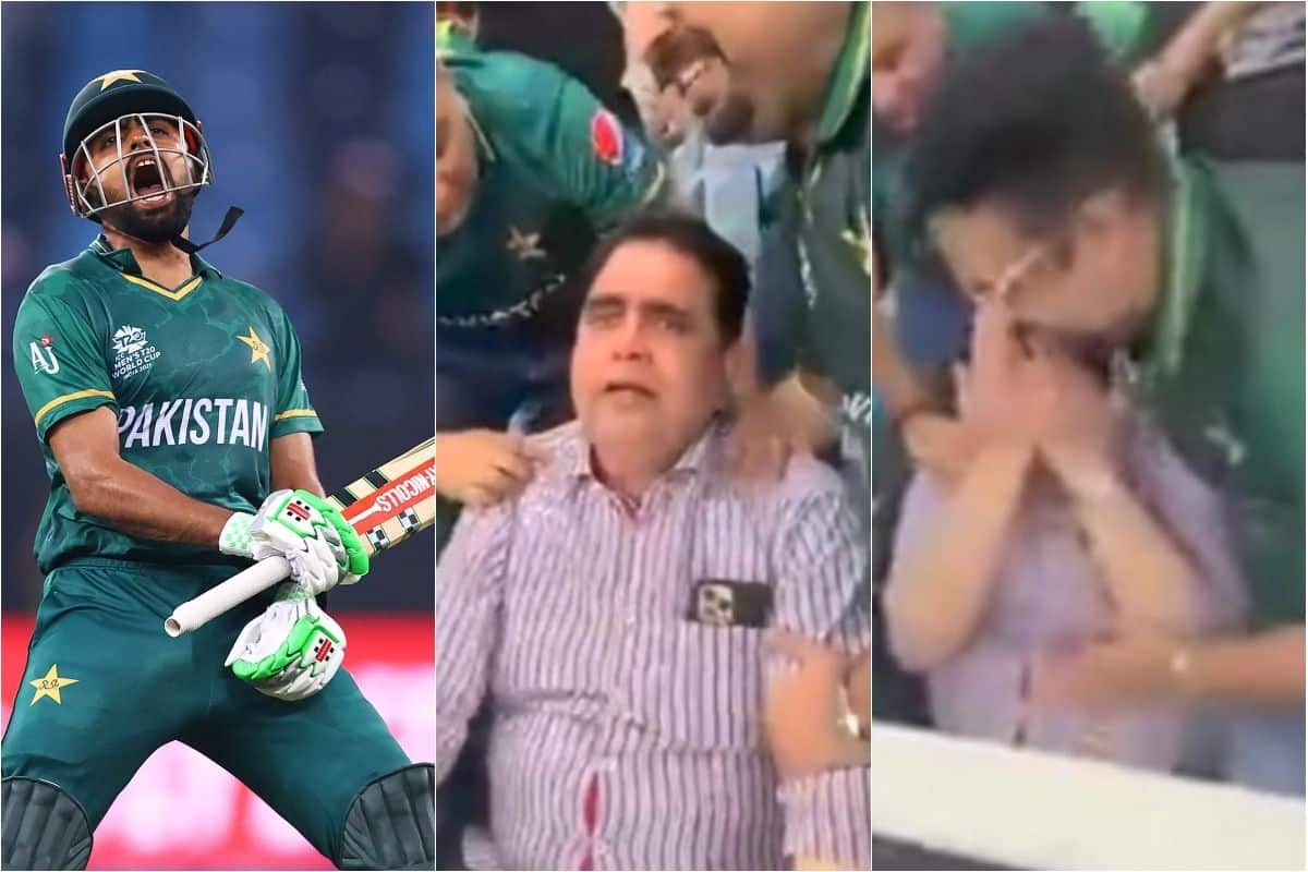 Babar Azam's father in tears after Pakistan defeat India in T20 Worldcup