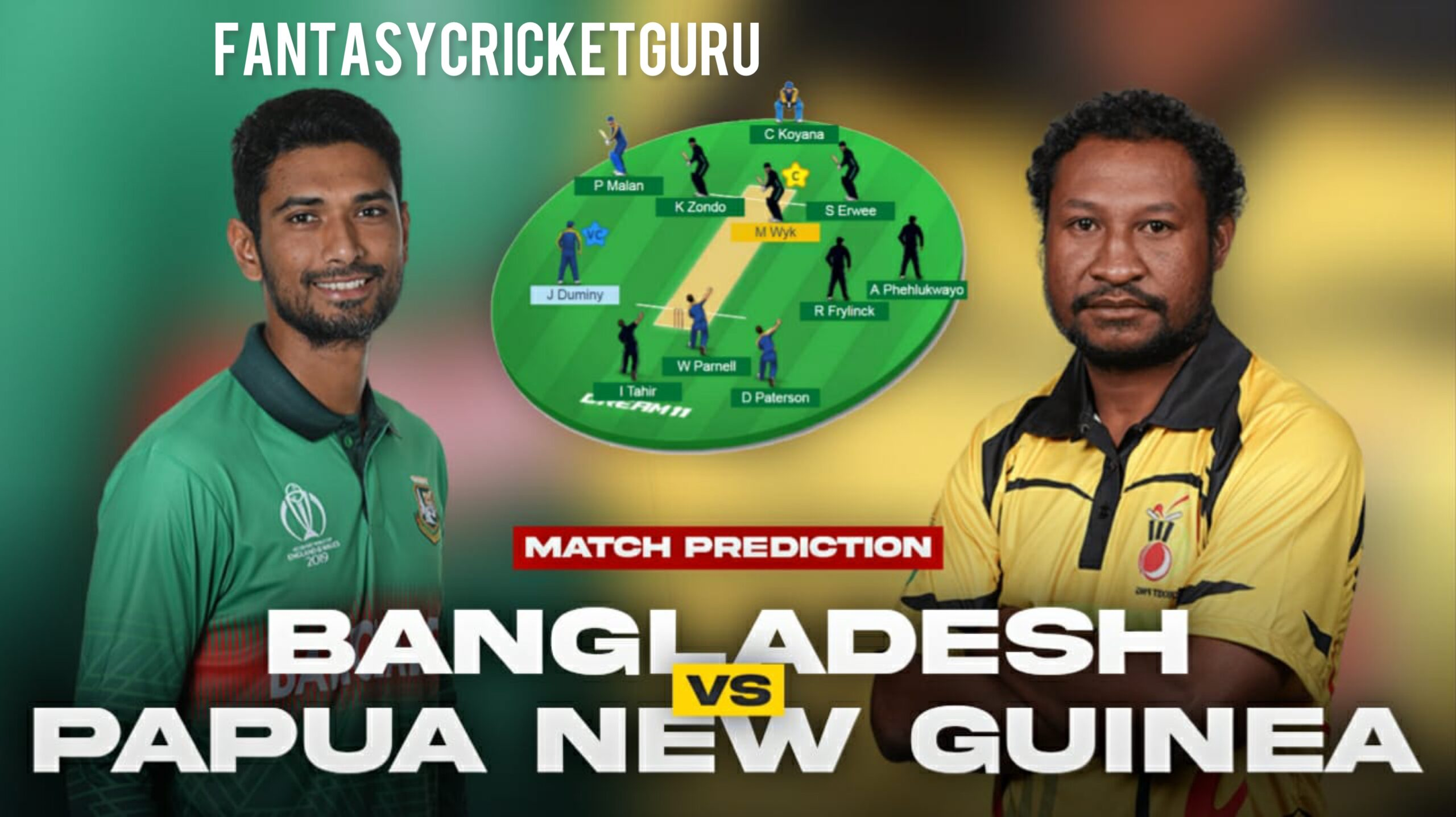 BAN vs PNG Dream11 Prediction ICC T20 World Cup 2021 (100% Winning)